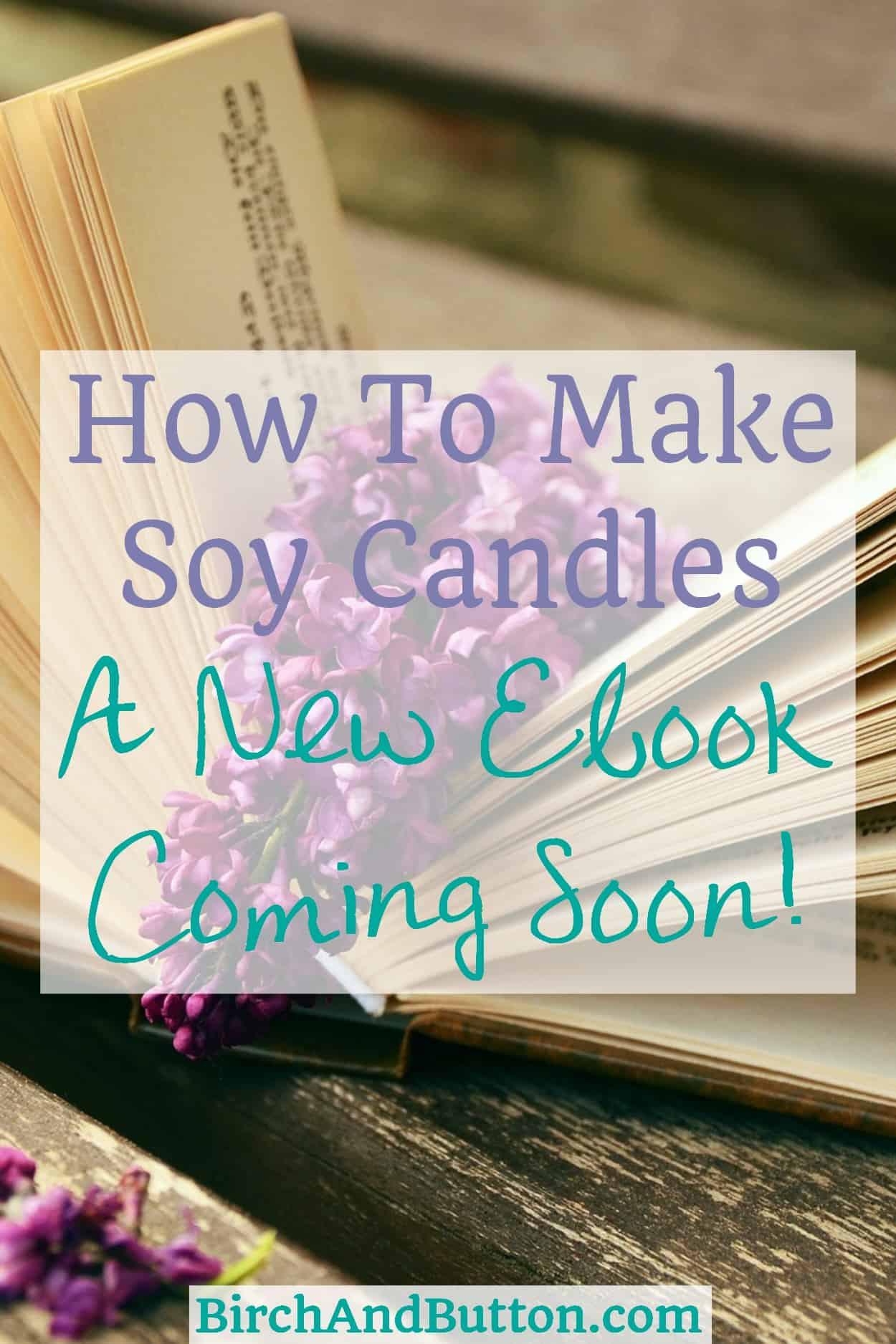 How To Make Soy Candles – New Ebook Coming Soon | BirchAndButton.com