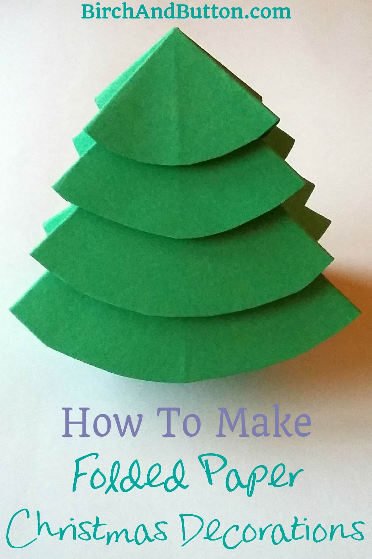 Learn to make a folded paper Christmas tree and an origami star -- simple, quick and effective decorations for Christmas!
