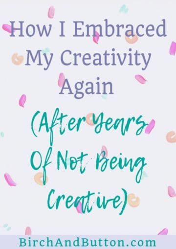 I didn't spend much time at all being creative in my early twenties, and it's only been in recent years when I was approaching 30 that I started to really embrace my creative side. Click through to read my personal story of how I lost touch with my creative side before coming back to it years later.
