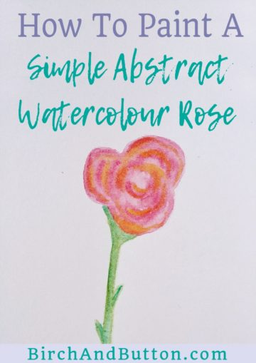 Roses are popular flowers that many people love, but if you're not a confident painter they might look just a little too complicated to paint. Well, that's definitely not the case! Check out my method for painting a simple and quick abstract watercolour rose in this blog post.