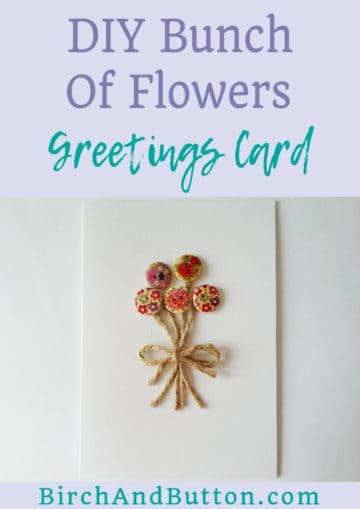 Learn how to make a quick bunch of flowers greetings card that can be adapted to suit lots of different occasions. Click through for the step-by-step tutorial.