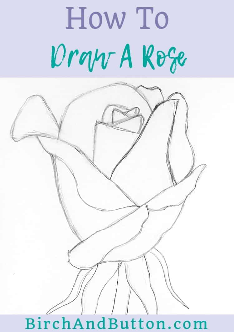 If you'd like to learn how to draw a rose, this step-by-step tutorial is just the thing. Click through to learn how to break this drawing project down into simpler stages that will make it feel much easier to do.