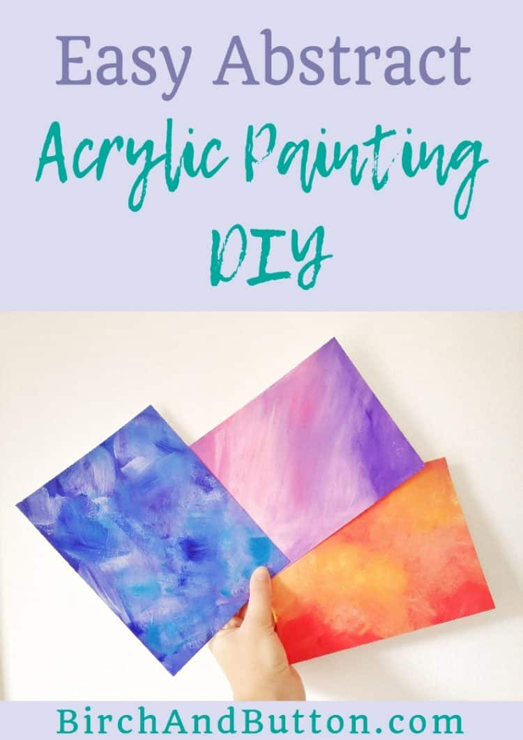 This easy abstract acrylic painting is as simple as squeezing blobs of paint onto the paper or canvas and then blending them together. Click through to read more.
