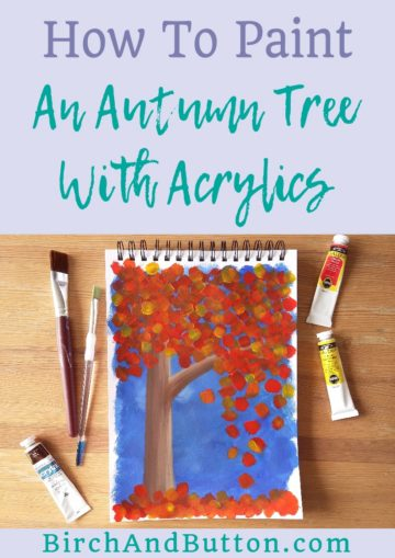 Learn how to paint this abstract autumn tree with acrylic paint. It's both simple and quick to do, with only three steps to follow! Click through to follow the tutorial.